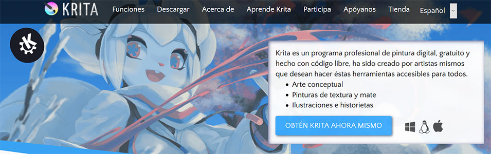Krita, alternativa a Photoshop online gratis