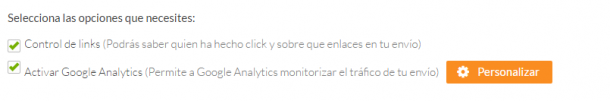 Acumbamail integrar Google Analytics