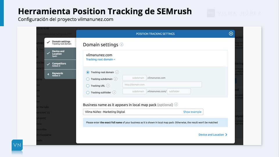 SEMrush - Position Tracking