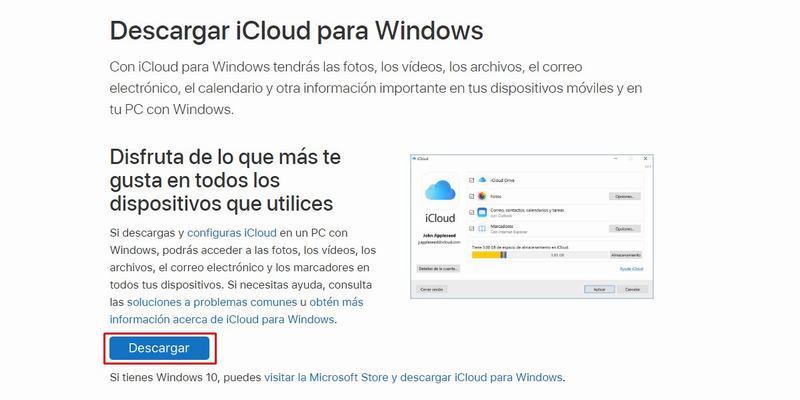 Descarga iCloud para Windows