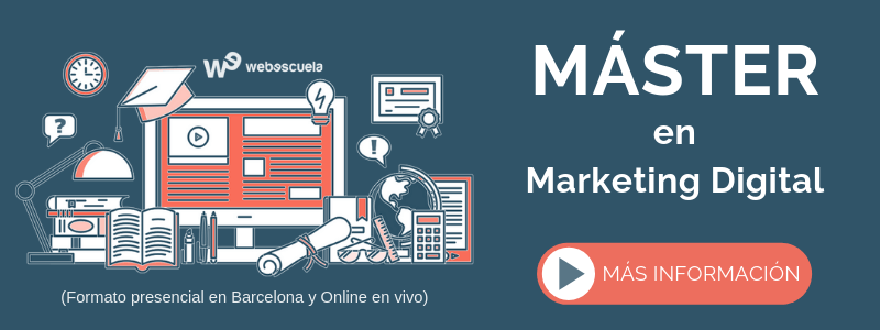 Máster Online en Marketing Digital de Webescuela