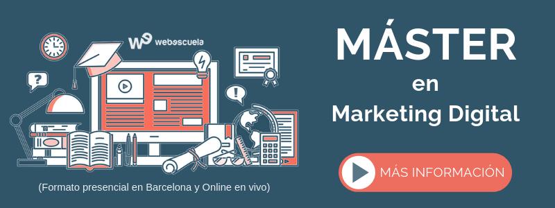Máster en Marketing Digital con orientación a comercio electrónico