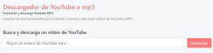 LAZYMP3 plataforma para convertir vídeos de YouTube